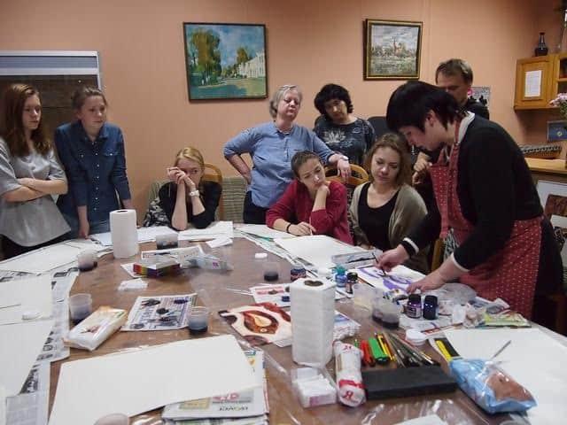 Анастасия Берёза дает мастер-класс