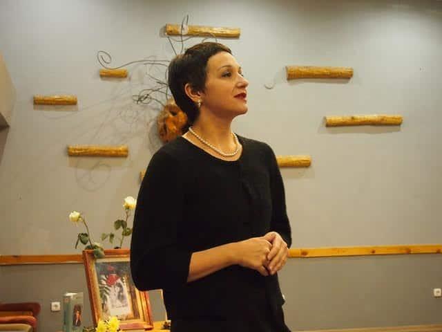 Наталья Ларцева в Доме актера проводит Цветаевский вечер. Фото Ирины Ларионовой