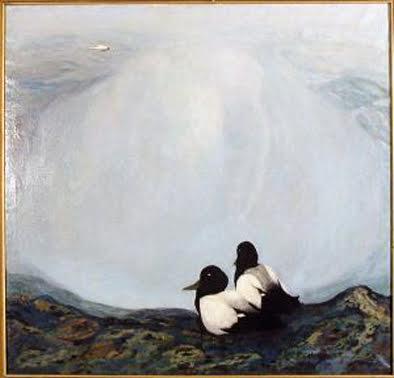 Картину талантливого карельского художника Евгения Судакова «Север» взял под опеку коллектив клиники «Онегомед»