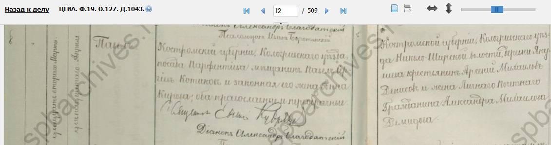 Павел Павлович Котиков, запись о рождении, 1900 год