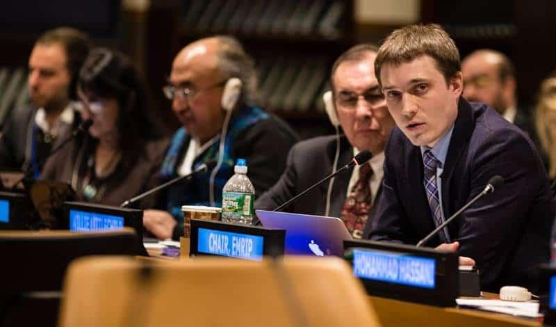 Алексей Цыкарев выступает в ООН