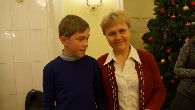 Автор книги Ольга Котомкина с сыном Григорием - потомки легендарного заонежского фельдшера Григория Котомкина