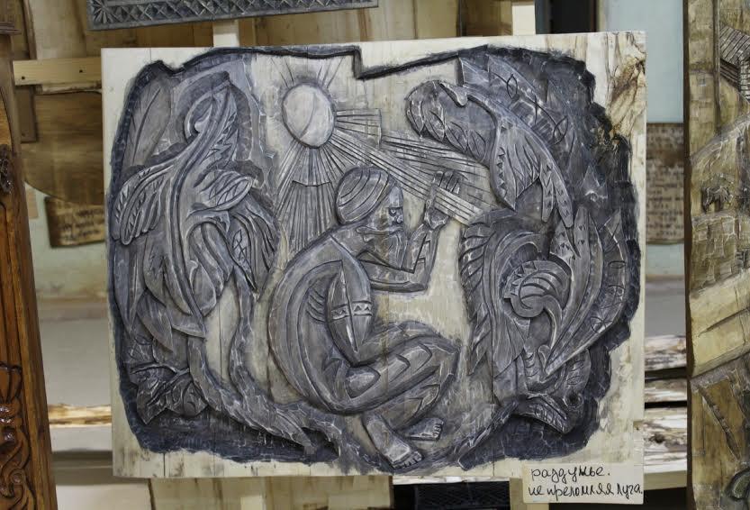 В селе Шёлтозеро открылся музей-мастерская мастера резьбы по дереву Ивана Марценюка
