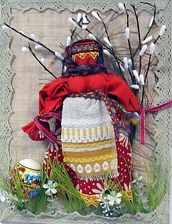 Анита Ермолова, 12 лет. Дом детского творчества Олонецкого района. Кукла «Пасха»