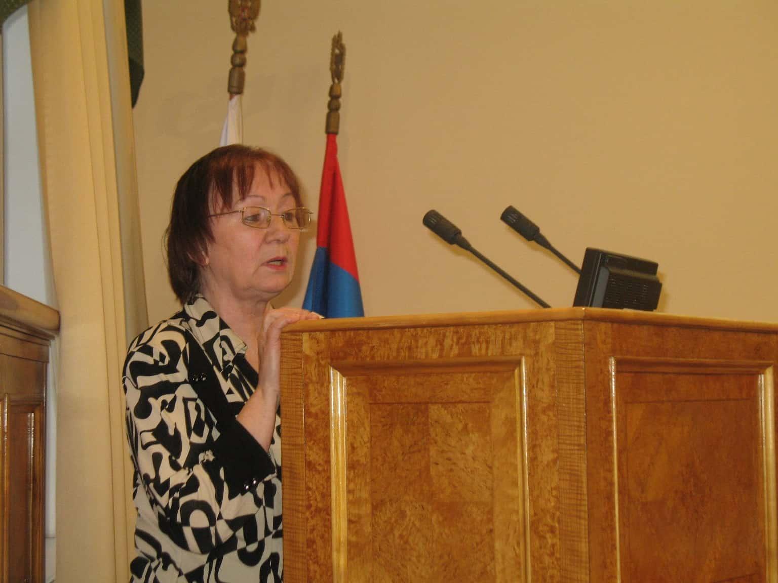 Валентина Ивановна Евсеева в Законодательном  Собрании РК