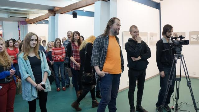 В медиа-центре «Vыход» открылась выставка молодых художников «Простые сюжеты». Фото Ирины Ларионовой