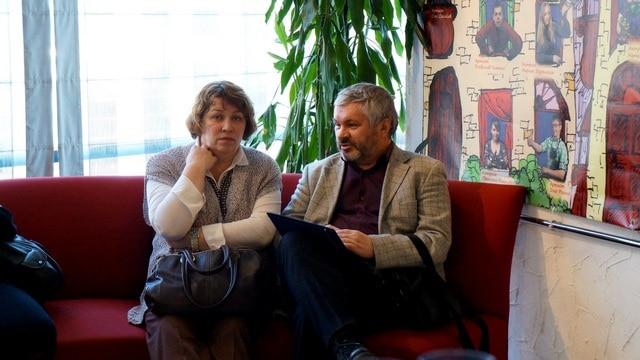 Директор Музыкального театра Елена Ларионова и главный режиссер Национального театра Андрей Дежонов