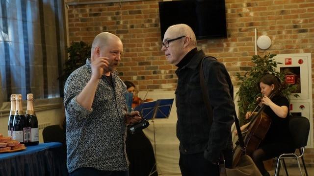 """Актер """"ТМ"""" Юрий Максимов и режиссер Сергей Стеблюк"""