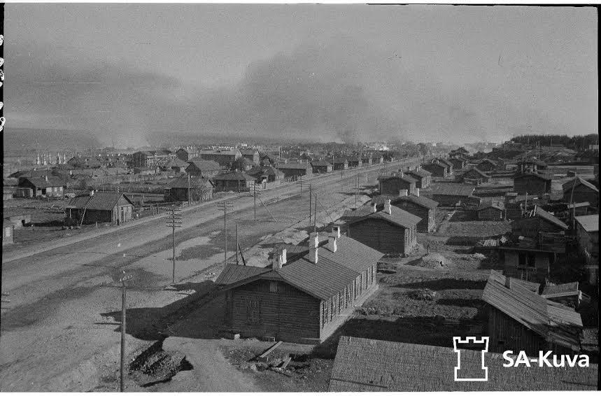 Железнодорожный район Петрозаводска. Застройка Шоссе 1 Мая в 1942 году