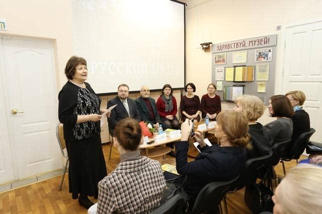 Директор Музея изобразительных искусств Карелии Наталья Вавилова приветствует коллег из Русского музея
