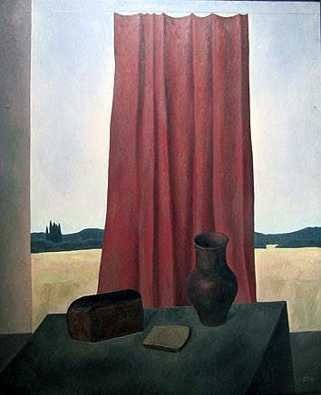 Александр Трифонов. Натюрморт с хлебом. 1976