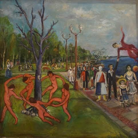 Персонажи художников на набережной Петрозаводска