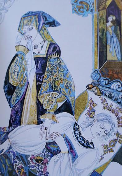 """Рисунок к одной из сказок сборника """"Три волшебных листочка"""""""