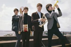 Последний совместный концерт The Beatles дали на крыше. 1969 год. Фото: Gettyimages