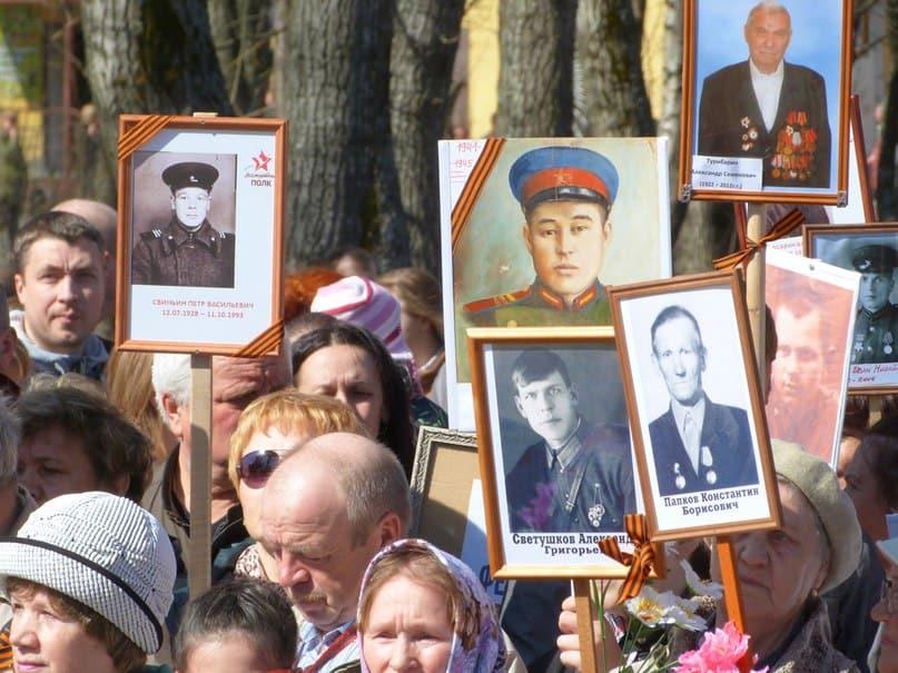 """""""Бессмертный полк"""" в Беломорске. 9 мая 2015 года.  Фото vk.com/club42677022"""
