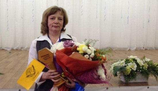 Елена Филимонова через несколько минут после победы в конкурсе