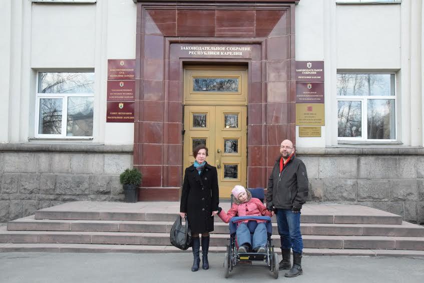 Татьяна Васильева с мужем и дочерью