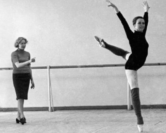 Галина Уланова и Майя Плисецкая во время репетиции. 1969 год. Фото www.uznayvse.ru