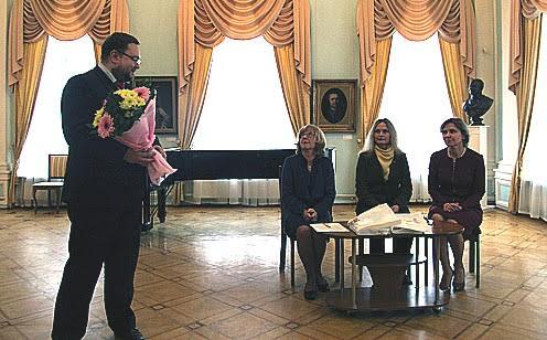 Поздравления от и.о. министра культуры Алексея Лесонена