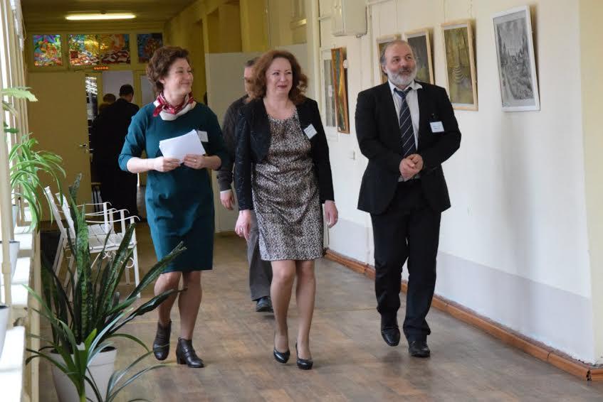 Замминистра образования Карелии Татьяна Васильева (слева) и Иван Ященко. Фото Марии Голубевой