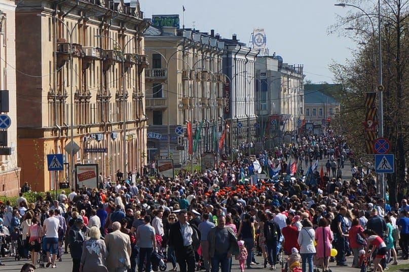День Победы в Петрозаводске. Фото Ирины Ларионовой