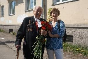 9 мая 2016 года. Николай Федорович Логинов и Ирина Ларионова