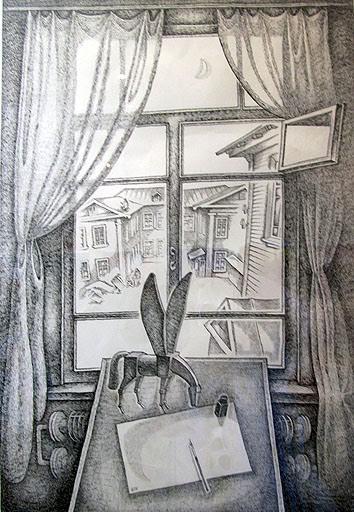 Валерий Кошелев. Окно. 1971