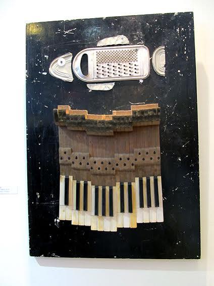 Максим Кошелев. Ловля сига на музыку Грига. 2016. Дерево, металл, смешанная техника