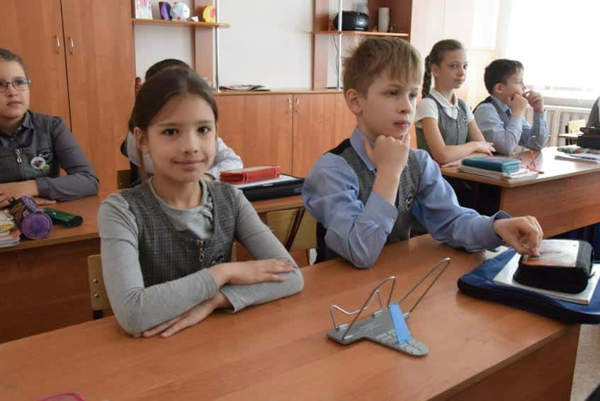 Третьеклассники Ломоносовской гимназии