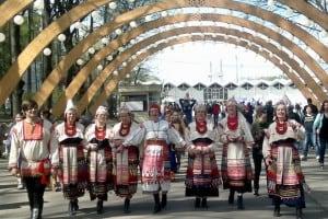 Вепсский народный хор на выставке в Сокольниках
