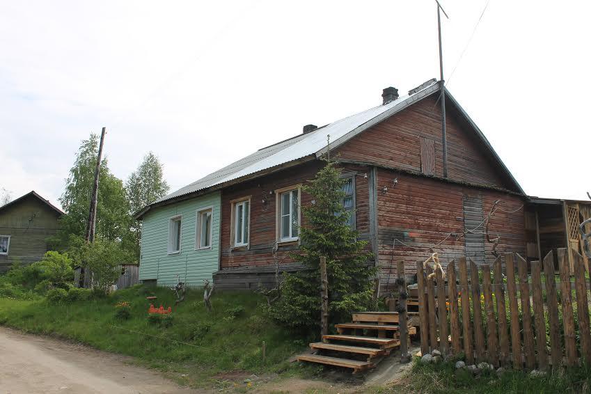 В этом доме Юрий Казаков жил в Калевале у Ортье Степанова