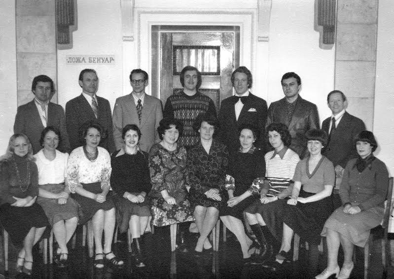 Хор Музыкального театра, 1970-е годы. Валентина Карпова - в первом ряду пятая слева