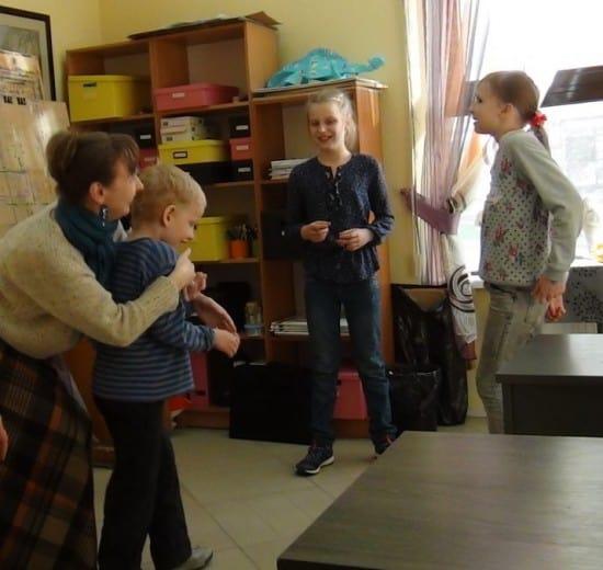 На занятии Веры Линьковой