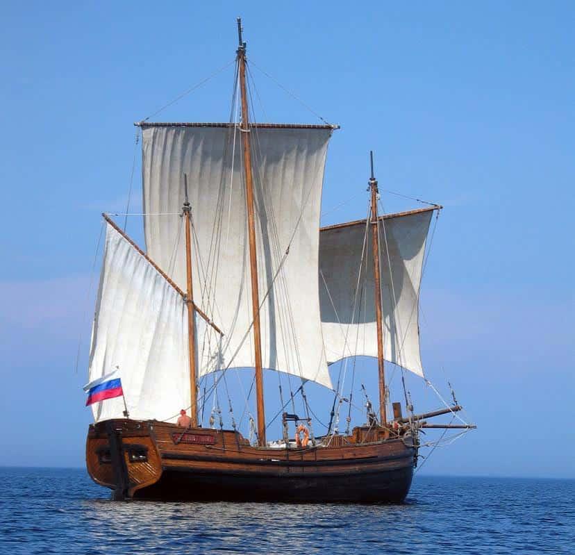 Поморская лодья Виктора Дмитриева