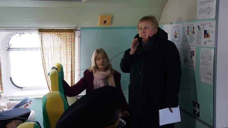 Директор Национального архива РК Ольга Жаринова выступила перед участниками памятного рейса