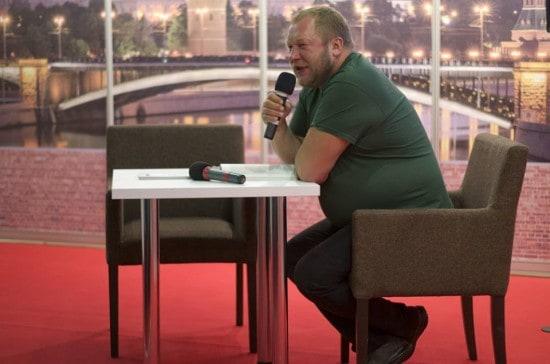 Дмитрий Новиков на Московской международной книжной выставке-ярмарке. Фото Виктории Лебедевой