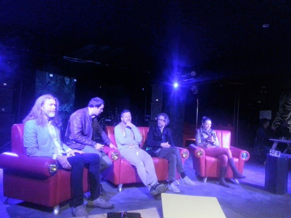 Музыканты на пресс-конференции. Фото Юлии Бараевой