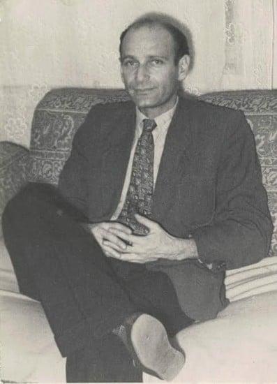 Ефрем Рыбак во время работы в музее