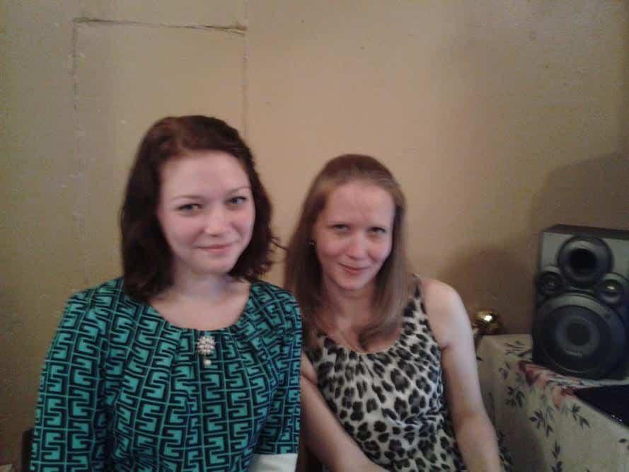 К.В. Шеина и С.А. Струнина – молодые учительницы школы