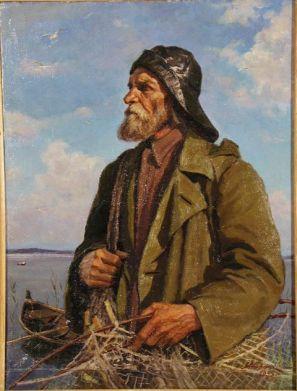 Стронк Георгий Адамович. 1910-2005. Рыбак. 1955