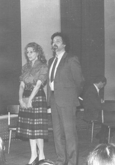 Олег Белонучкин и Елена Бычкова в спектакле «Завтра была война». 1985 год