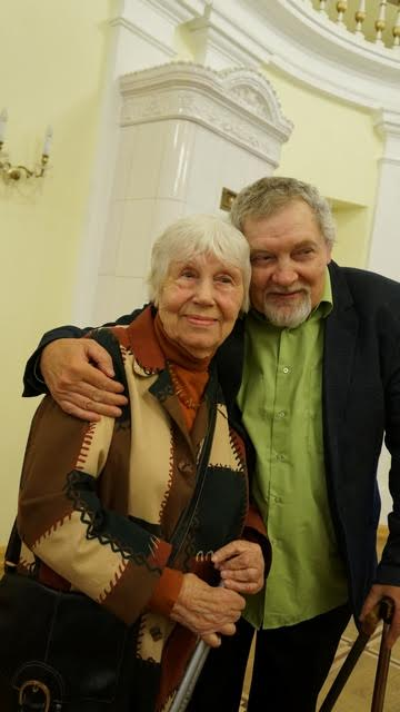 Наталья Ларцева и поэт, переводчик Шекспира Валерий Ананьин