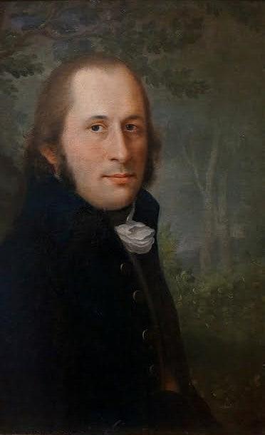 Неизвестный художник конца XYIII-начала XIX века, предположительно Василий Истомин. Мужской портрет