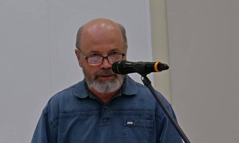 Вячеслав Агапитов в НБ РК. Фото Ирины Ларионовой