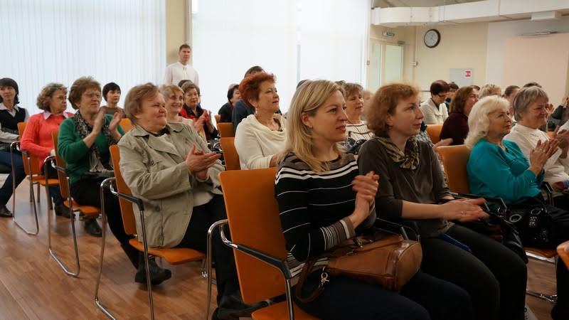 На встрече с Вячеславом Агапитовым в НБ РК. Фото Ирины Ларионовой