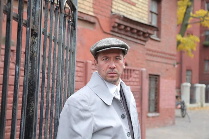 Андрей Мерзликин на съемках фильма