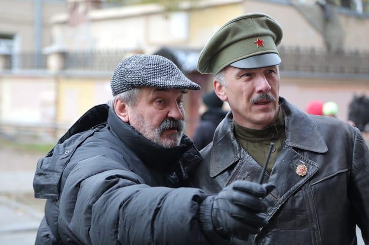 Константин Худяков на съемках фильма