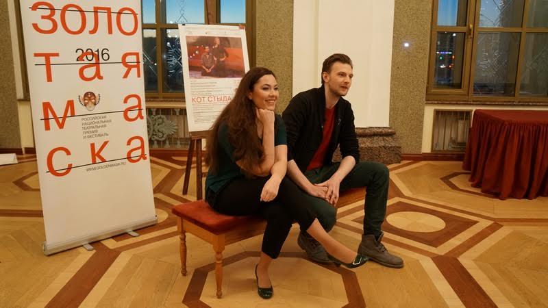 Янина Соколовская и Максим Керин на пресс-конференции в Петрозаводске. Фото Ирины Ларионовой