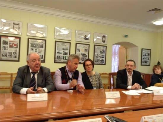 Пресс-конференции проходила в том зале, в котором 145 лет назад открылась первая экспозиция