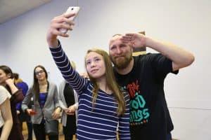 Финский репер Paleface выступил в петрозаводской школе (фоторепортаж)
